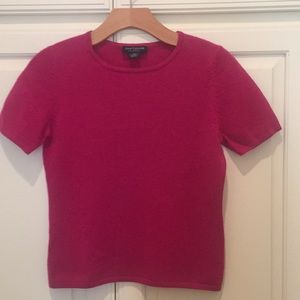 Ann Taylor Cashmere Sweater, Short Sleeve, Rose